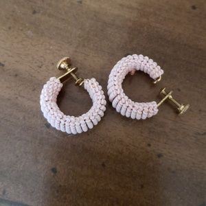 Clip on Vintage pink earrings